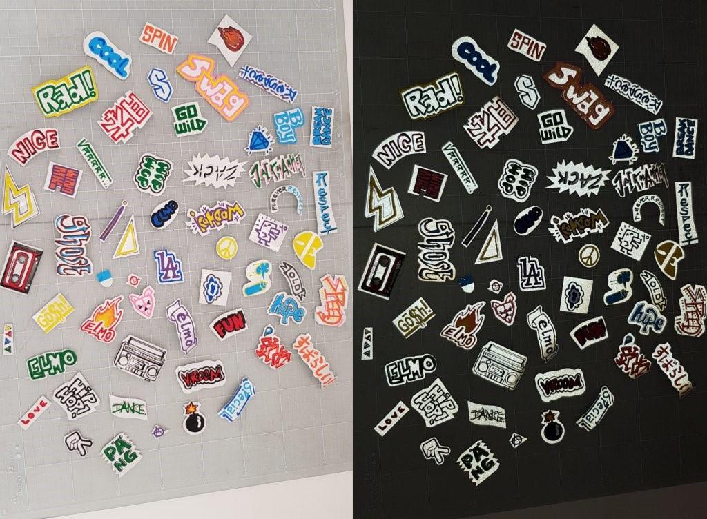 Idea fai da te per un tragitto casa-scuola più sicuro: sticker di nastro adesivo riflettente colorati con evidenziatori