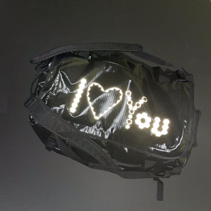 Sporttasche mit reflektierender Folie