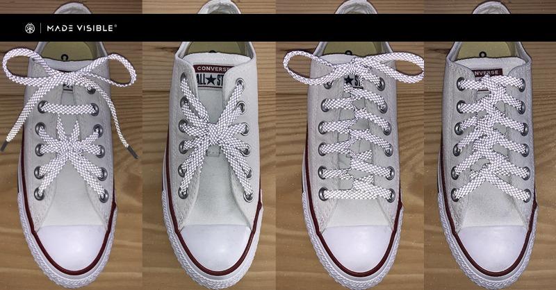 Enfilage créatif de lacets et nouage créatif de chaussures avec des techniques de laçage