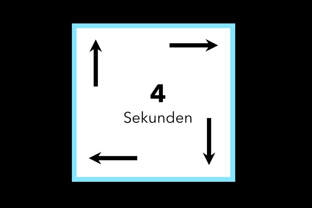 Quadratatmung im 4-Sekundentakt